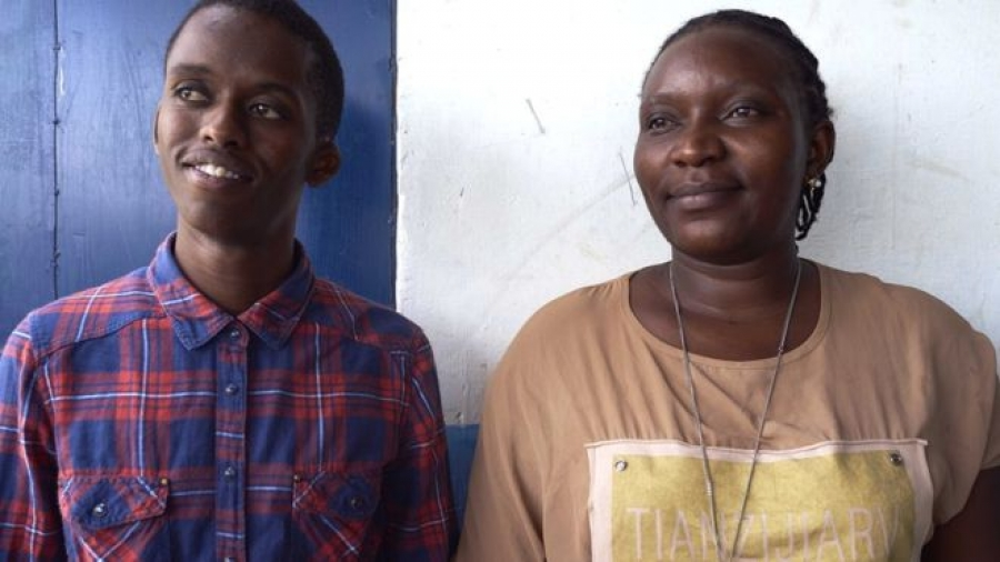 Anthony and Jacqueline give training to young people in Kenya about how they can stop sexual violence