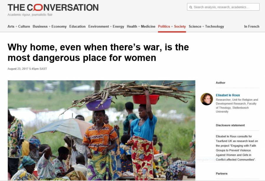 Why home, even when there's war, is the most dangerous place for women