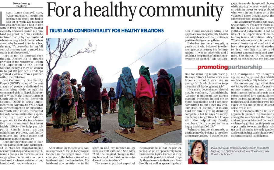 For a healthy community