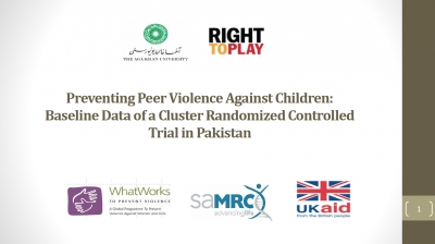 Preventing Peer Violence Against Children: Baseline Data of a Cluster Randomized Controlled Trial in Pakistan