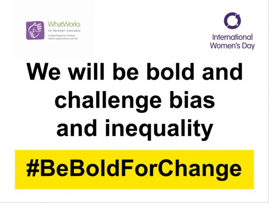 What Works in celebration of International Women's Day  #BeBoldForChange