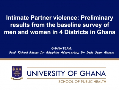 Intimate Partner violence in Ghana