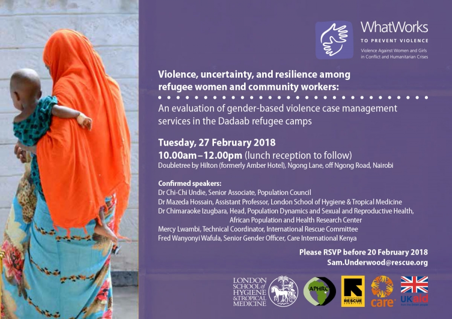 EVENT: Violence, uncertainty, and resilience among refugee women and community workers - Nairobi
