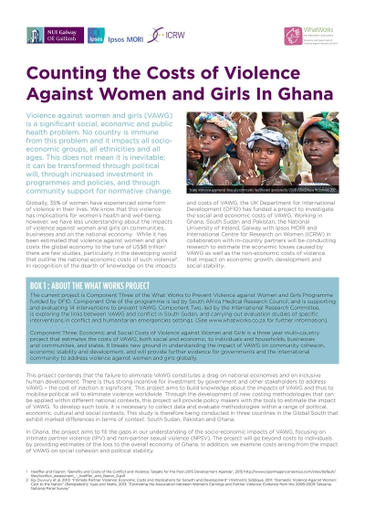 Counting the Costs of Violence Against Women and Girls In Ghana