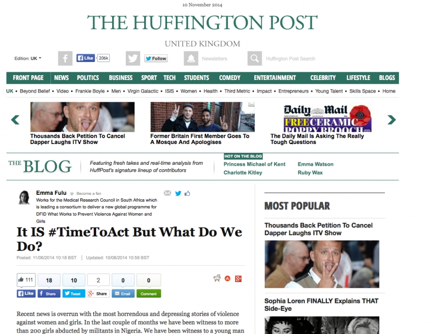 The Huffington Post – It IS #TimeToAct But What Do We Do?