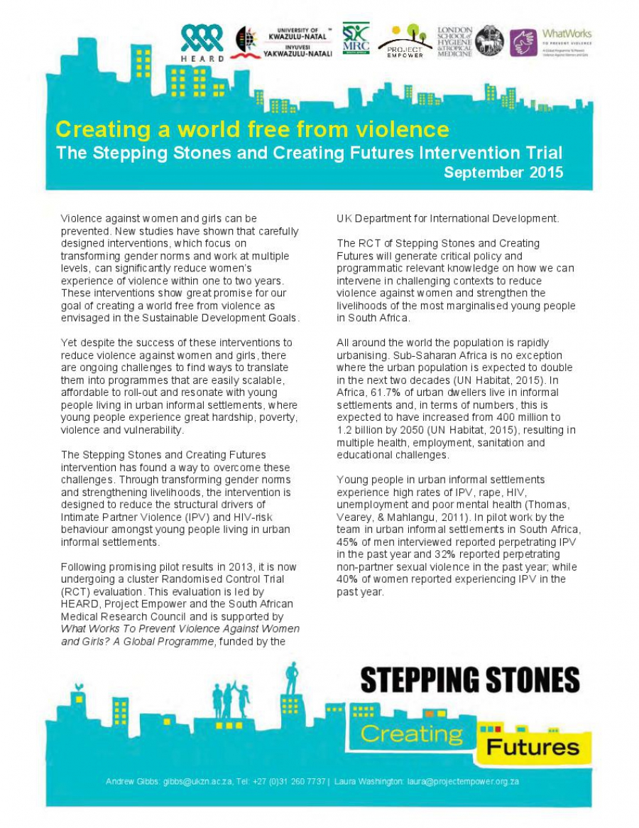 Creating a world free from violence
