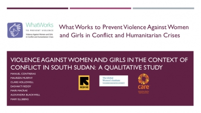 Violence Against Women and Girls in the context of conflict in South Sudan:  A Qualitative study