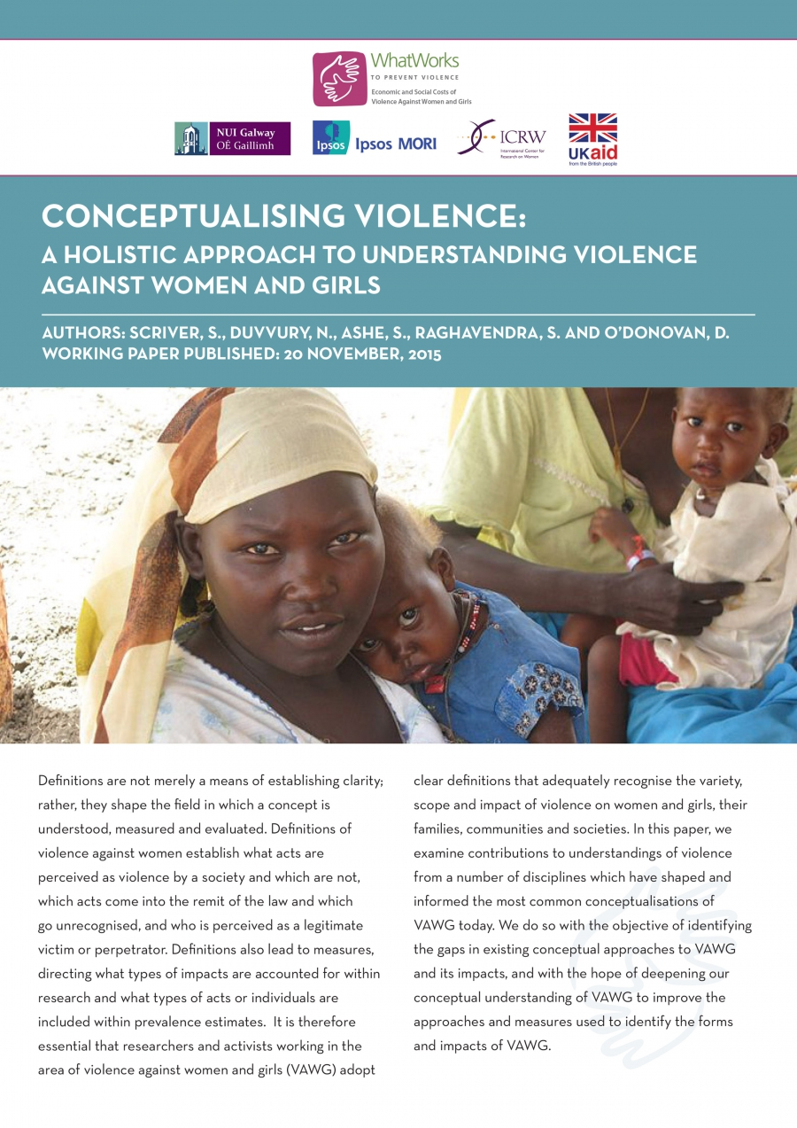 Conceptualising Violence – A Holistic Approach to Understanding Violence Against Women and Girls