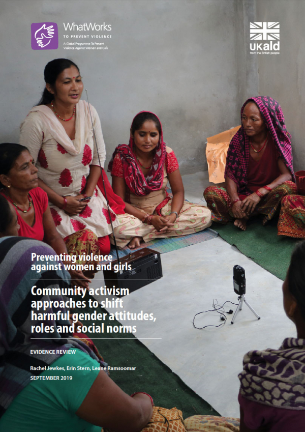 Community activism approaches to shift harmful gender attitudes, roles and social norms
