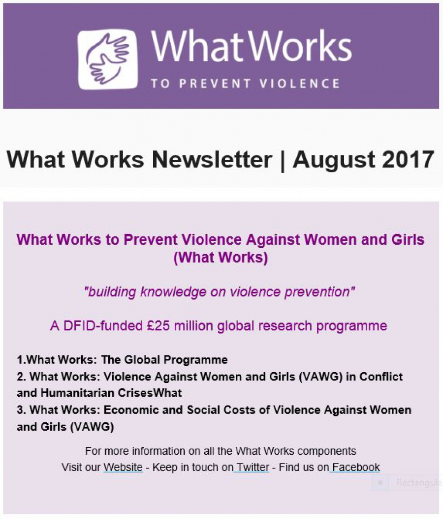 The latest What Works newsletter out now!