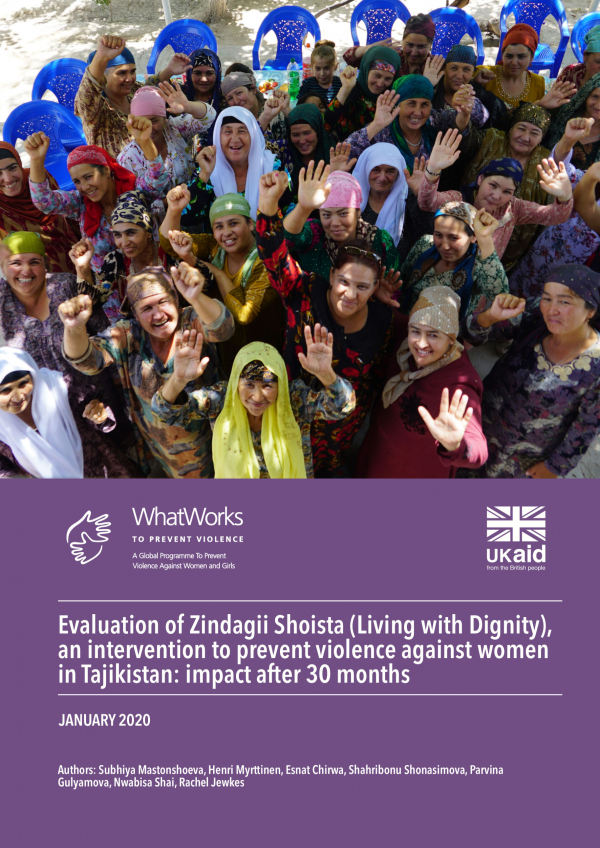 Evaluation of Zindagii Shoista (Living with Dignity), an intervention to prevent violence against women in Tajikistan: impact after 30 months