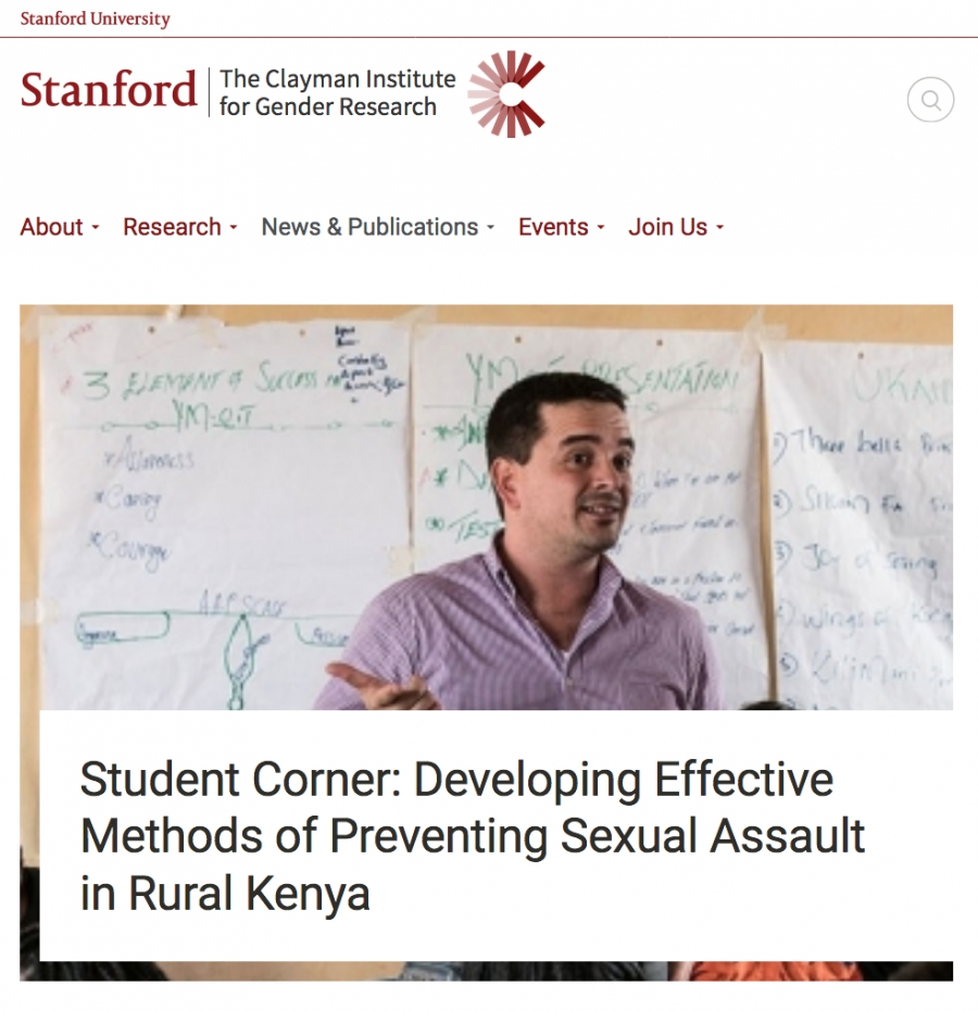 Student Corner: Developing Effective Methods of Preventing Sexual Assault in Rural Kenya