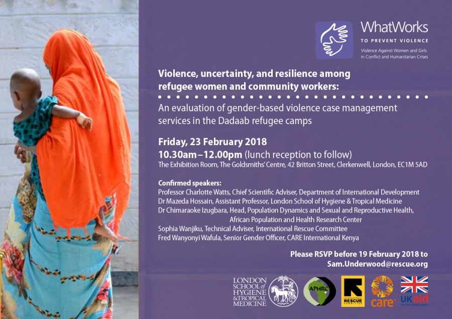 EVENT: Violence, uncertainty, and resilience among refugee women and community workers - London