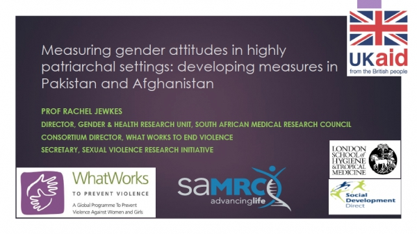 Measuring gender attitudes in highly patriarchal settings: developing measures in Pakistan and Afghanistan