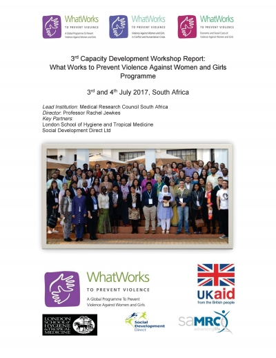 2017 Capacity Development Workshop Report
