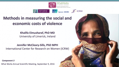 Methods in measuring the social and economic costs of violence