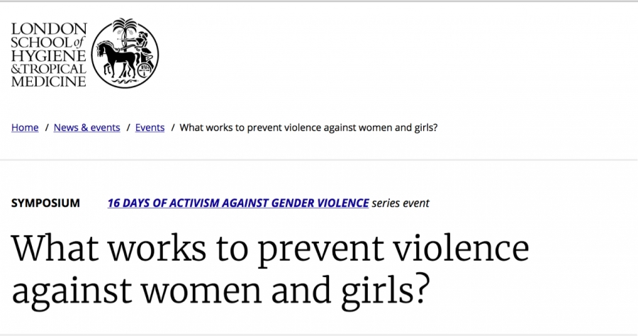 What drives men to violence and what do we know about what works to prevent it?
