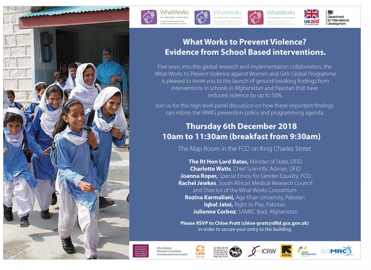 EVENT: What Works to Prevent Violence? Evidence from School Based interventions