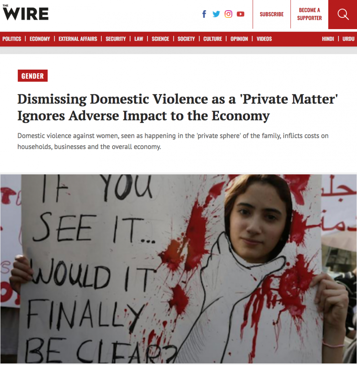 Dismissing Domestic Violence as a 'Private Matter' Ignores Adverse Impact to the Economy