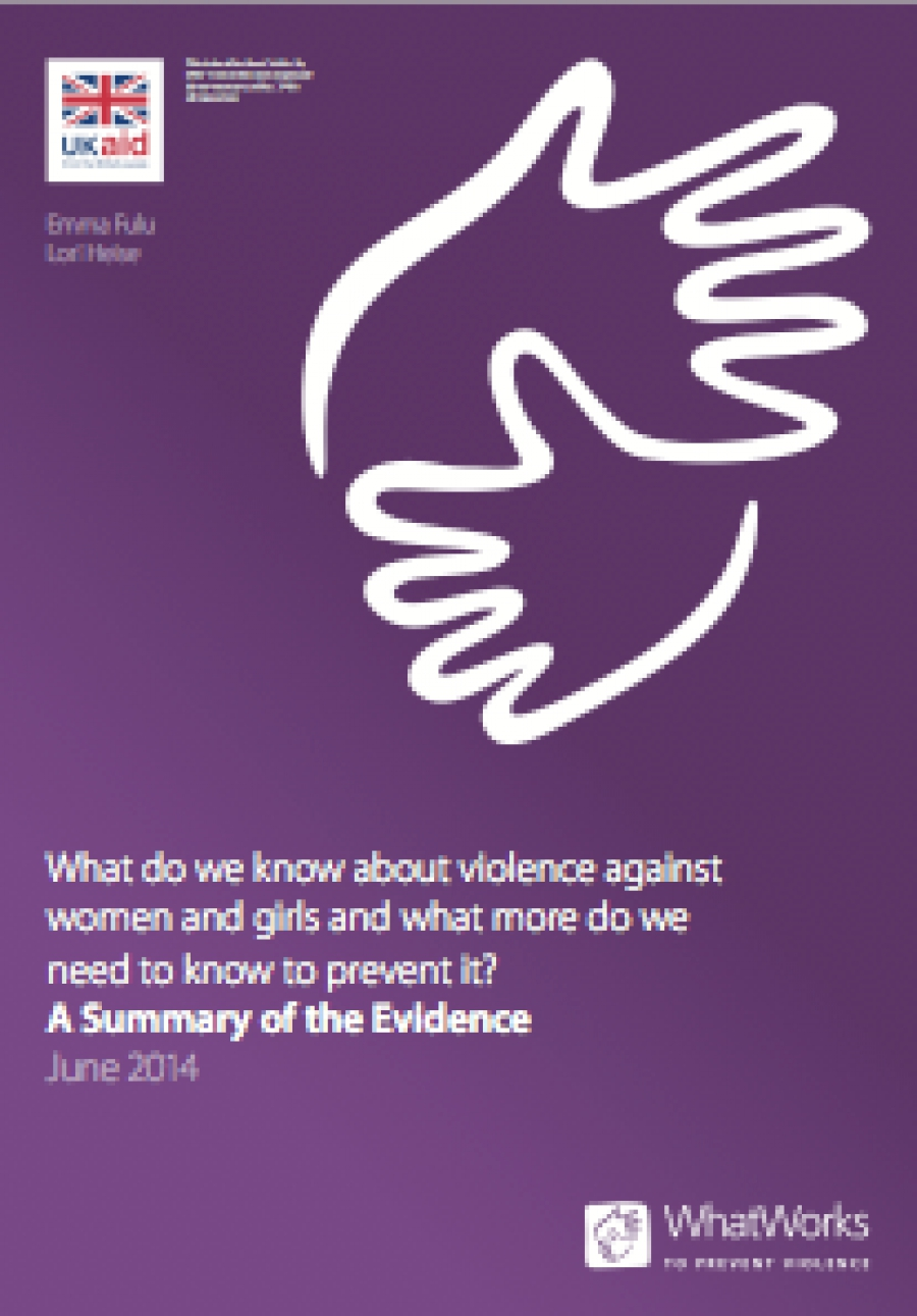 What do we know about violence against women and girls and what more do we need to know to prevent it?