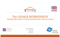 The CHANGE INTERVENTION - Working with Couples to Prevent Intimate Partner Violence in Nepal