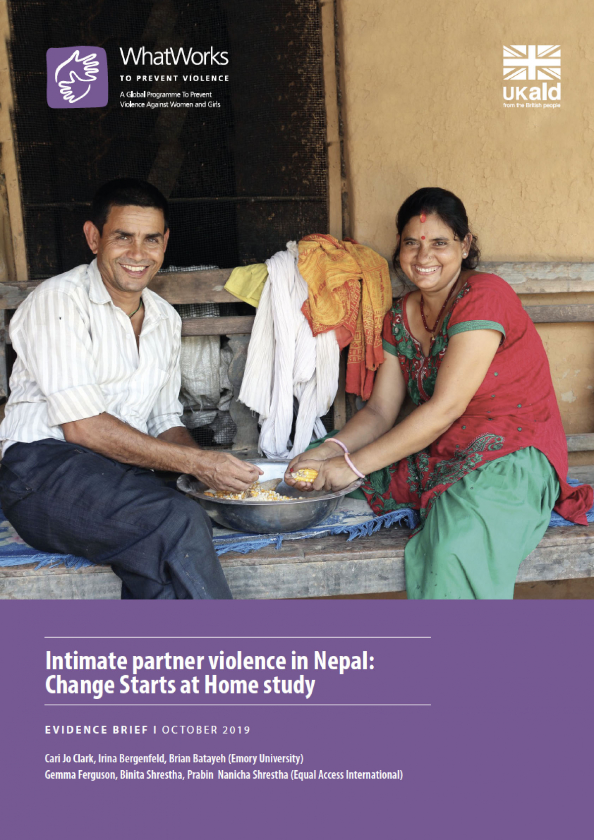 Intimate partner violence in Nepal: Change Starts at Home study
