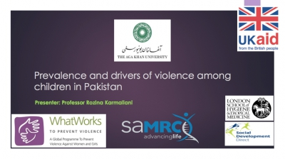 Prevalence and drivers of violence among children in Pakistan - Right to Play, Pakistan