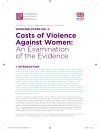 Working Paper No.2. Costs of Violence Against Women: An Examination of the Evidence