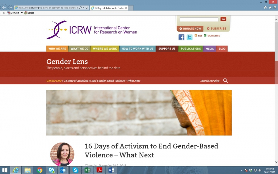 16 Days of Activism to End Gender-Based Violence – What Next