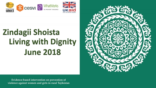 Zindagii Shoista – Living with Dignity: Evidence-based intervention on prevention of violence against women and girls in rural Tajikistan