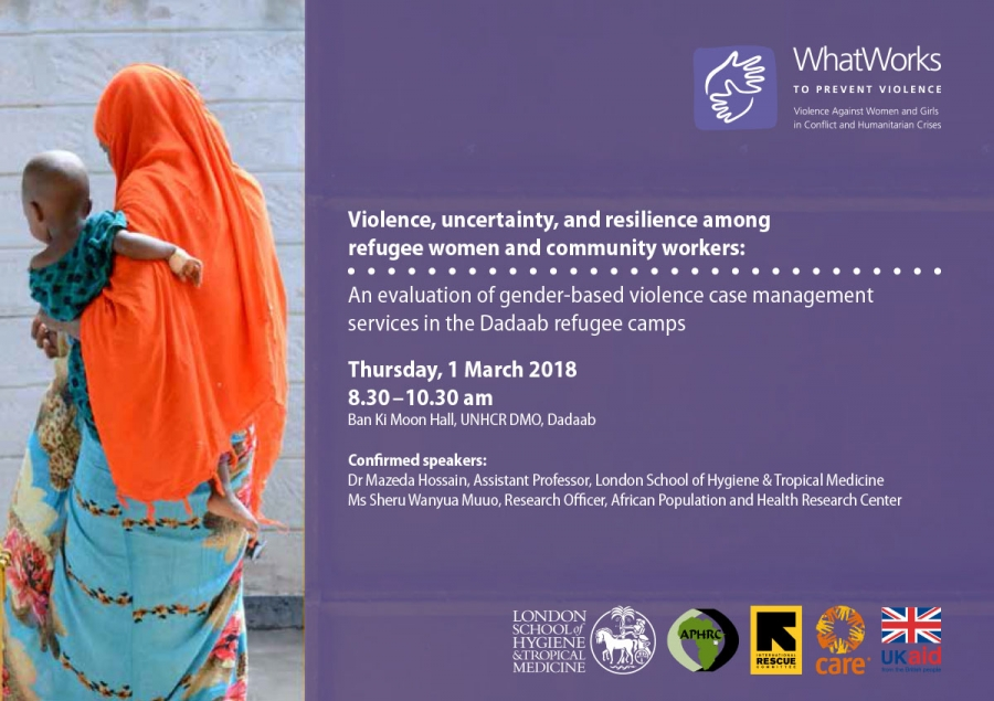EVENT: Violence, uncertainty, and resilience among refugee women and community workers - Dadaab