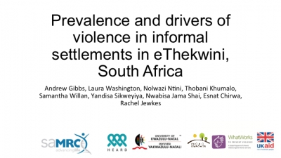Prevalence and drivers of violence in informal settlements in eThekwini, South Africa - Project Empower/HEARD