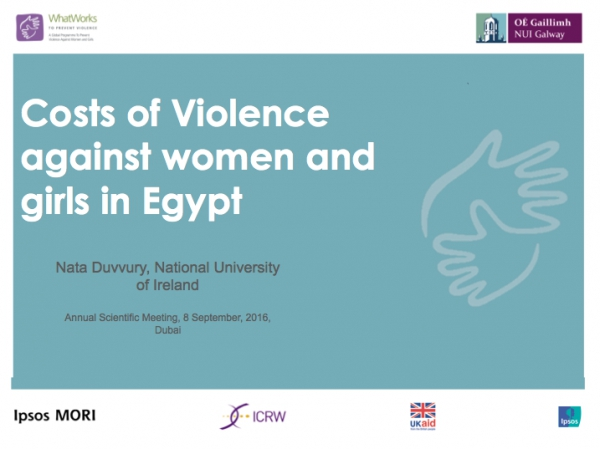 Costs of Violence against women and girls in Egypt