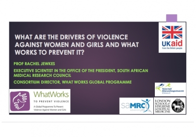 What are the Drivers of Violence Against Women and Girls and What Works to Prevent it?