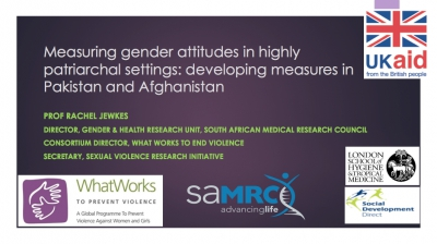 Measuring gender attitudes in highly patriarchal settings: developing measures in Pakistan and Afghanistan, Right to Play, Pakistan