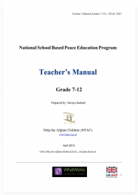 National School Based Peace Education Program - Teacher's Manual
