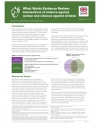 What Works Evidence Review – Intersections of Violence Against Women and Violence Against Children